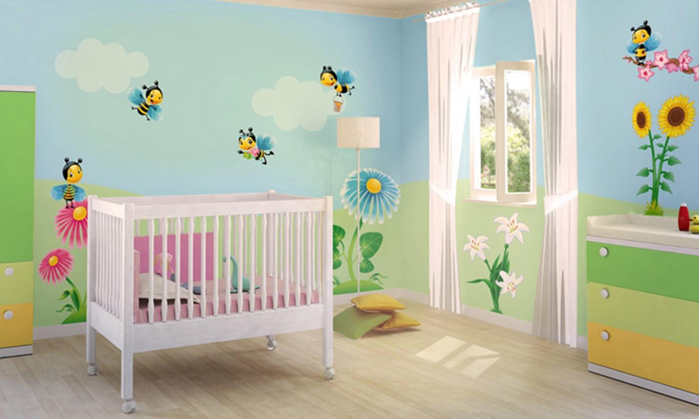 Stickers murali bambini cameretta nel mondo delle api leostickers - Adesivi per mobili bambini ...